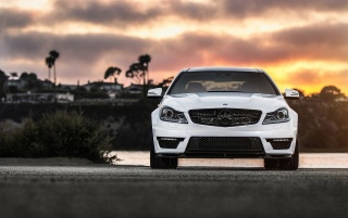 2013 Mercedes-Benz C63 AMG Front Static wallpapers and stock photos
