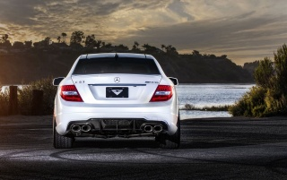 2013 Mercedes-Benz C63 AMG Rear Static wallpapers and stock photos