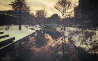 Winter Reflections wallpapers and stock photos