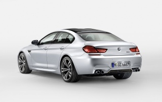 2013 BMW M6 Gran Coupe Rear Angle Studio wallpapers and stock photos