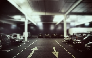 Parking Lot at Night wallpapers and stock photos