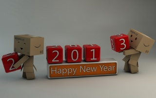 Happy New Year 2013 Blocks wallpapers and stock photos