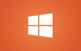 Clean Windows 8 White Logo on Orange wallpapers and stock photos