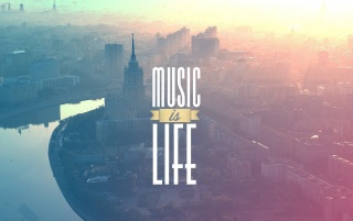 Music is Life Typography Poster wallpapers and stock photos