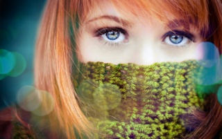 Random: Beautiful Redhead with Blue Eyes