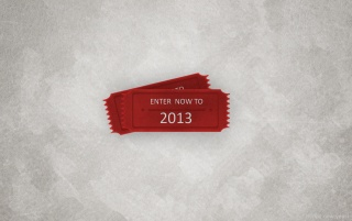 Random: 2013 New Year Ticket