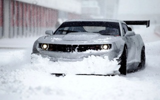 Chevrolet Camaro in the Winter wallpapers and stock photos