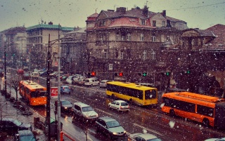 Winter in Belgrad wallpapers and stock photos
