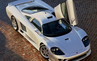 Saleen S7 silver wallpapers and stock photos