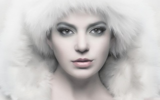 Beautiful Model in Fur wallpapers and stock photos