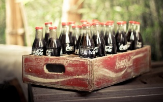 Vintage Coca-Cola Bottles wallpapers and stock photos