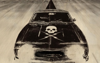 Death Proof Muscle Car wallpapers and stock photos
