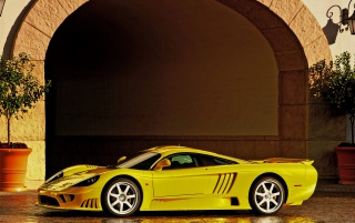 Saleen S7 side wallpapers and stock photos