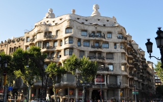 Casa Mila Barcelona wallpapers and stock photos