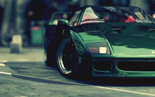Green Ferrari F40 wallpapers and stock photos