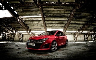 Red Seat Ibiza Side Angle wallpapers and stock photos