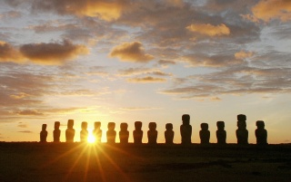 Easter Island Dawn wallpapers and stock photos
