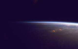 Erde Horizon from Outer Space wallpapers and stock photos