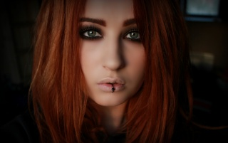 Beautiful Pierced Redhead Model wallpapers and stock photos
