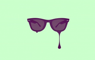 Random: Minimalistic Purple Glasses