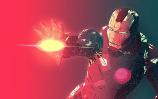 Fractal Iron Man 3D Render wallpapers and stock photos