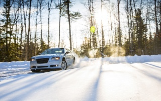 2013 Chrysler 300 Glacier Motion Front Angle wallpapers and stock photos