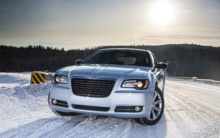 2013 Chrysler 300 Glacier Front Side wallpapers and stock photos