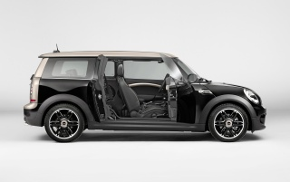 2013 Mini Clubman Bond Street Studio Side Doors Open wallpapers and stock photos