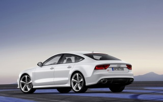 2013 Audi RS 7 Sportback Static Rear Angle wallpapers and stock photos