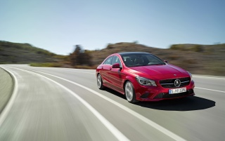 2013 Mercedes Benz CLA Class CLA 220 CDI Front Angle wallpapers and stock photos