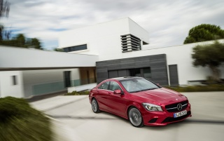 2013 Mercedes Benz CLA Class CLA 220 CDI Side Angle wallpapers and stock photos