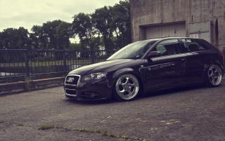 Tuned Black Audi A3 wallpapers and stock photos