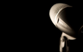 Black Shure Studio Microphone wallpapers and stock photos