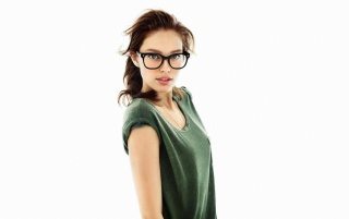 Gorgeous Brunette con los vidrios wallpapers and stock photos