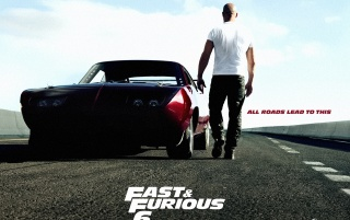 Fast & Furious 6 Movie Poster wallpapers and stock photos