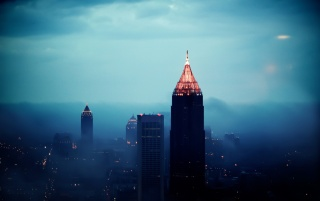 Atlanta Foggy Sunrise wallpapers and stock photos