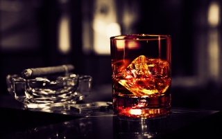 Scotch Whisky on the Rocks wallpapers and stock photos