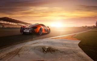 2013 McLaren P1 at Bahrain Static Rear Angle wallpapers and stock photos