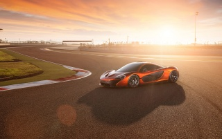 2013 McLaren P1 at Bahrain Static Side Angle wallpapers and stock photos