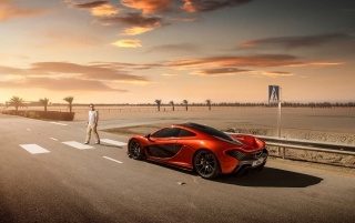 2013 McLaren P1 at Bahrain Static Side Top Angle wallpapers and stock photos