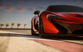 2013 McLaren P1 at Bahrain Front Section wallpapers and stock photos
