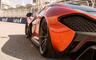 2013 McLaren P1 at Bahrain Rear Section wallpapers and stock photos