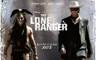 The Lone Ranger Movie Poster wallpapers and stock photos