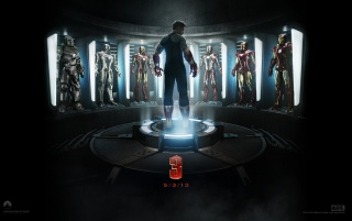 Iron Man 3 Official Wallpaper wallpapers and stock photos