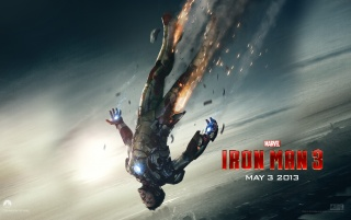 Iron Man Falling Official Wallpaper wallpapers and stock photos