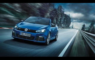 2013 Volkswagen Golf R Cabriolet Motion Front Angle wallpapers and stock photos
