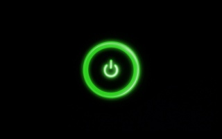 Green Power Button wallpapers and stock photos