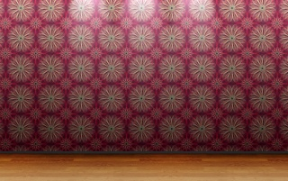 Floral Wall Pattern wallpapers and stock photos