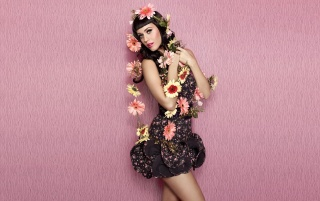 Katy Perry Wearing Flowered Dress wallpapers and stock photos