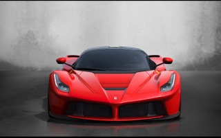 2013 Red Ferrari LaFerrari Studio Front wallpapers and stock photos